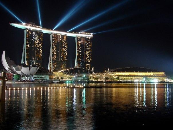 фото бассейн на крыше отеля в сингапуре
